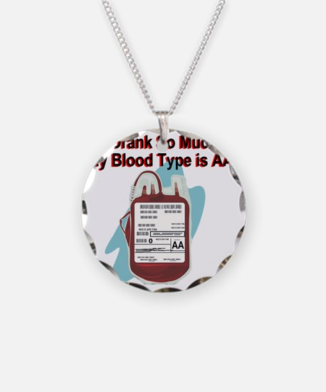 blood-type Necklace Circle Charm