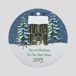 Cute First Home Christmas Ornament 2013