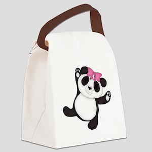 Happy Panda Canvas Lunch Bag