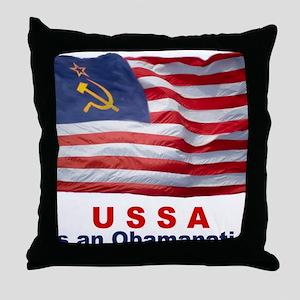 USSA-Obamanation Throw Pillow