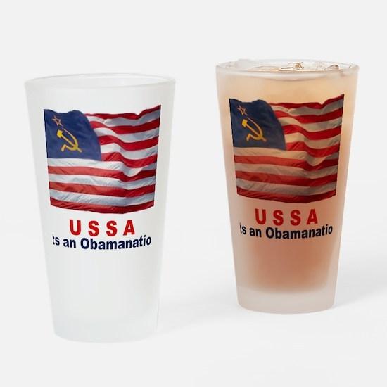 USSA-Obamanation Drinking Glass
