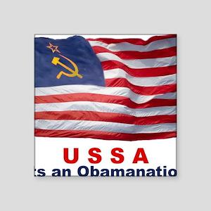 """USSA-Obamanation Square Sticker 3"""" x 3"""""""