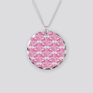 PinkribbonLLLpsq Necklace Circle Charm