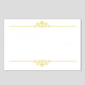 carsonquoteDark Postcards (Package of 8)