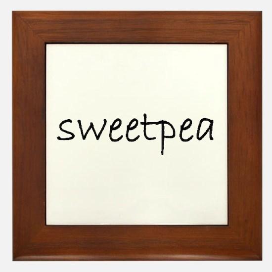sweetpea mug.bmp Framed Tile
