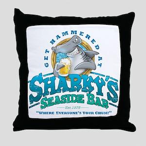 SharkysBar Throw Pillow