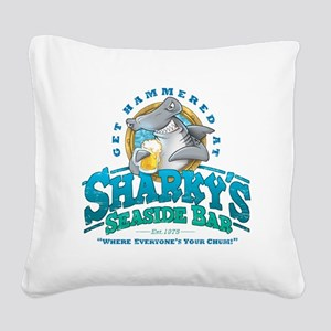 SharkysBar Square Canvas Pillow