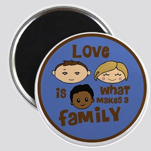 love is what makes a family blue boy copy Magnet