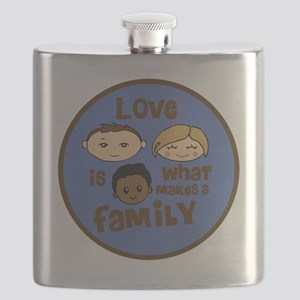 love is what makes a family blue boy copy Flask