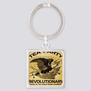 2-Tea Party Revolutionary Square Keychain
