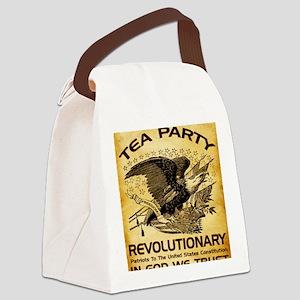 2-Tea Party Revolutionary Canvas Lunch Bag