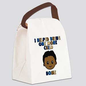 helped bring one more home boy co Canvas Lunch Bag