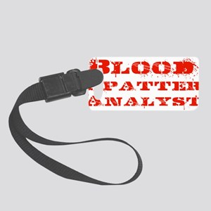 bloodspatteranaylst_bigger Small Luggage Tag