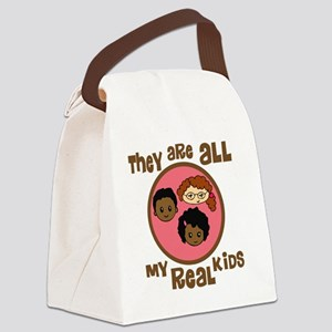 they are all my real kids copy Canvas Lunch Bag