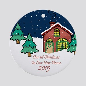 Cute First Home Christmas Ornament 2015