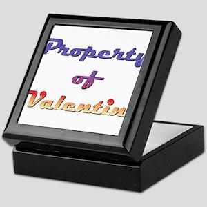 Property Of Valentin Male Keepsake Box