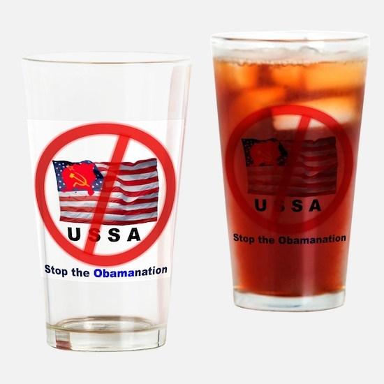 USSA8-Obamanation Drinking Glass