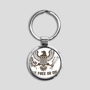 2-Live Free or Die 2 Round Keychain