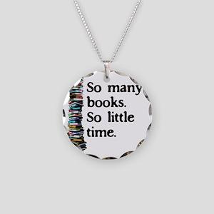 2-logo so many books Necklace Circle Charm