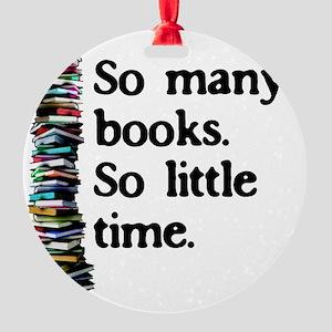 2-logo so many books Round Ornament