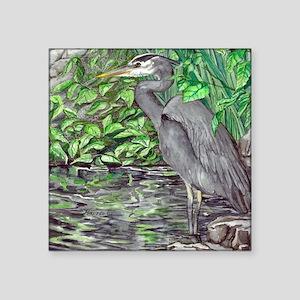 "Blue Heron - Tile Square Sticker 3"" x 3"""