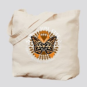 Multiple-Sclerosis-Butterfly-Tribal-2-blk Tote Bag