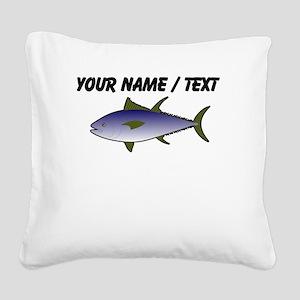 Custom Tuna Fish Square Canvas Pillow