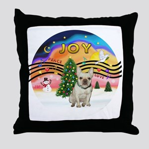 Xmas Magic 2 - French Bulldog (fawn 1 Throw Pillow