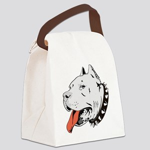 Pitbull_Head_Vector_big Canvas Lunch Bag