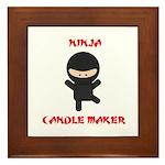 Ninja Candle Maker Framed Tile