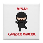 Ninja Candle Maker Tile Coaster