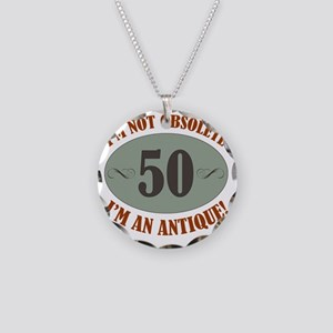 Obsolete50 Necklace Circle Charm