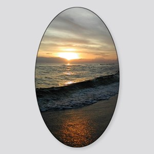 Sunset  Surf 9x12_print Sticker (Oval)