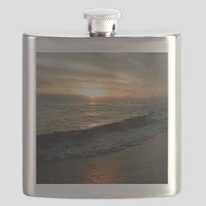 Sunset  Surf 9x12_print Flask