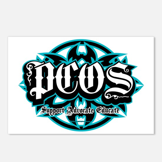 PCOS-Tribal Postcards (Package of 8)
