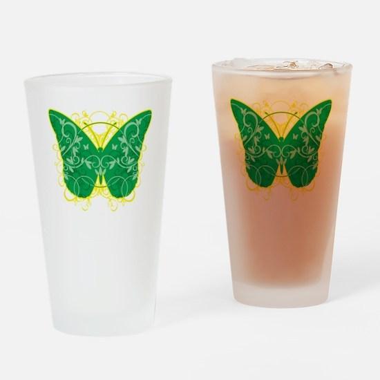 Gastroparesis-Butterfly-blk Drinking Glass