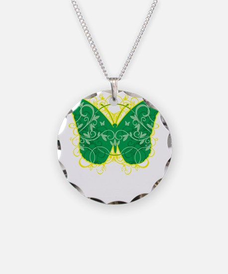 Gastroparesis-Butterfly-blk Necklace