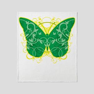 Gastroparesis-Butterfly-blk Throw Blanket