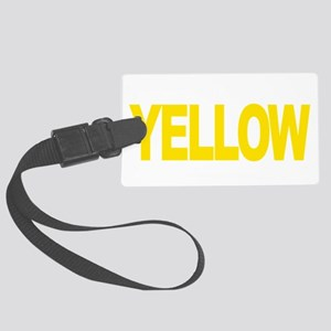 Liver-Cancer-Think-Yellow-blk Large Luggage Tag