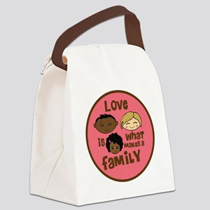 love makes biracial parents 2  gi Canvas Lunch Bag