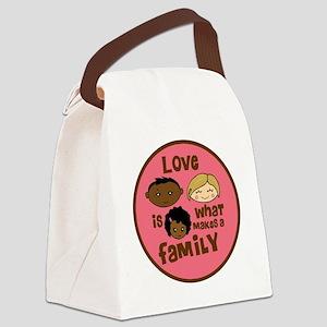 love makes biracial parents 2  gi Canvas Lunch Bag
