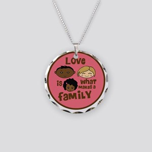 love makes biracial parents  Necklace Circle Charm