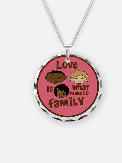 love makes biracial parents  Necklace