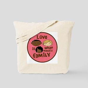 love makes biracial parents 2  girl copy Tote Bag