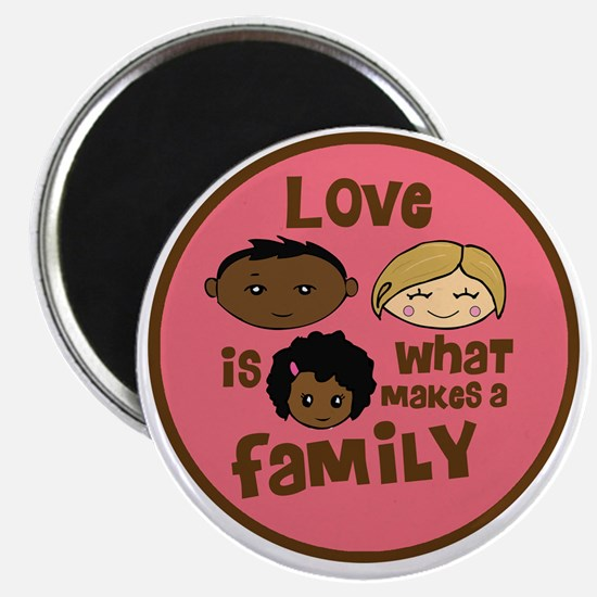 love makes biracial parents 2  girl copy Magnet