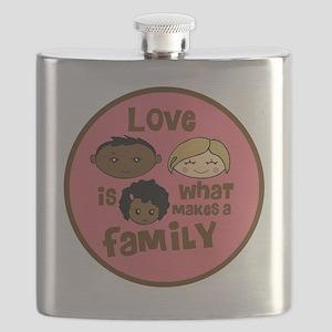 love makes biracial parents 2  girl copy Flask