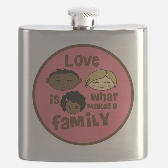 love makes biracial parents 2  girl copy Flask