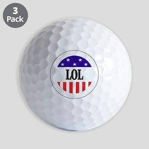 LOL Button Golf Balls