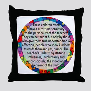 hans quote button Throw Pillow