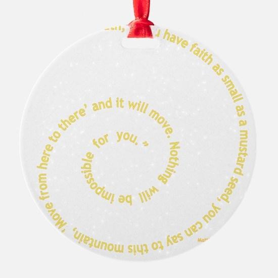 Faith Ornament
